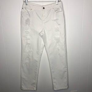 Jennifer Lopez boyfriend distressed jeans. Size 8.